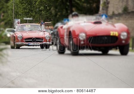 old car mercedes mille miglia 2014