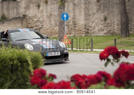 old car porsche martini mille miglia 2014