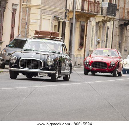 OLB CAR Ferrari 212 Inter Coupé Pinin Farina 1953 MILLE MIGLIA 2014