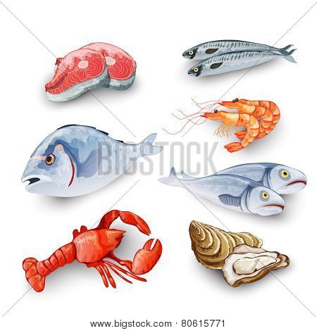 Seafood Products Set