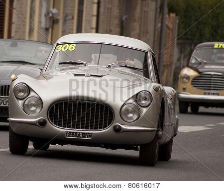 OLD CAR FIAT 8V berlinetta 1954 MILLE MIGLIA 2014