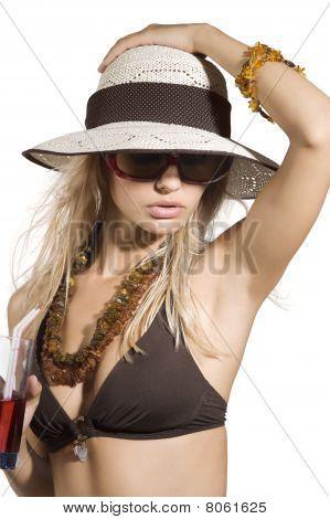 Girl Summer Drink