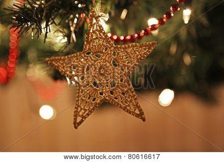 Felt Christmas Star Ornament