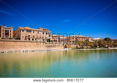 Buildings Near By La Seu Cathedral And Almudaina In Palma De Mallorca