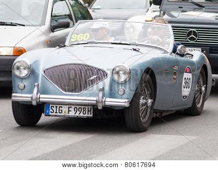 OLD CAR Austin Healey 100/4 BN1 1955 mille miglai 2014