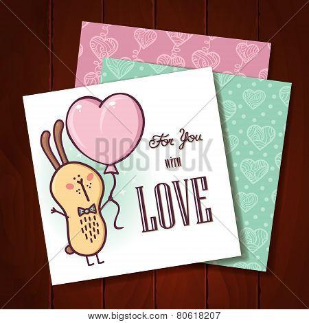 Rabbit love card.