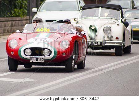 lod car O.S.C.A. 372 FS Barchetta mille miglia 2014