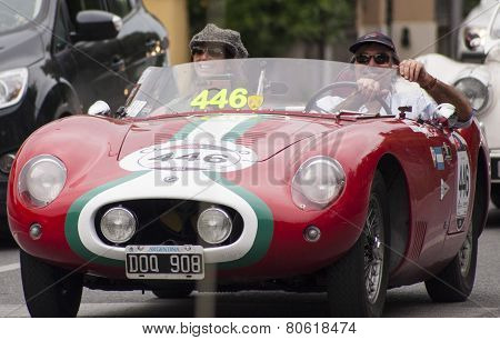 Old Racing O.S.C.A. 372 FS BarchettaMILLE MIGLIA 2014