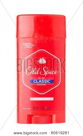 DEPEW, OK, USA - January 19th, 2015: Stick of Old Spice Classic deodorant. Old Spice is a brand owned by Procter & Gamble, Cincinnati, OH, USA,