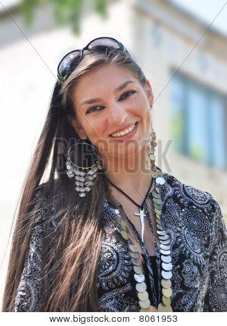 Fashion Woman With Jewelry.