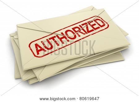 Authorized letters  (clipping path included)
