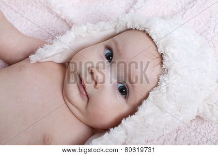 Cute baby girl with a hat