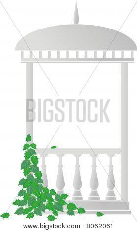 Arbour (rotunda) and ivy