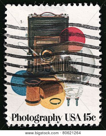 USA Post Stamp 1978, Photography: Camera, Lens, Color Filters, Adapter