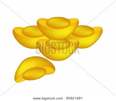 Chinese Gold Ingots for Chinese New Year