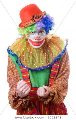 Portrait Of An Evil Clown