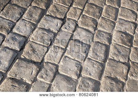 Dark Gray Stone Floor Pavement, Background Texture
