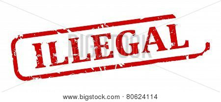 Red Stamp - Illegal