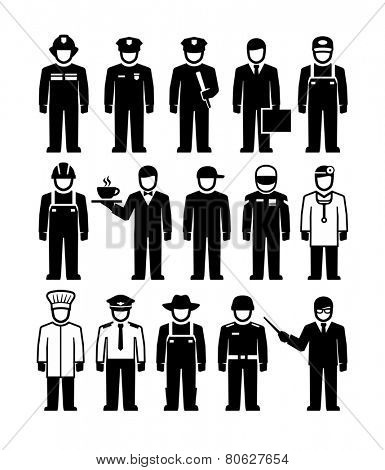 Workers Figure Pictogram icons