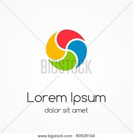 Logo template. Abstract circle creative sign.