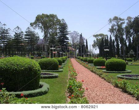 Akko Bahai Gardens Path 2004