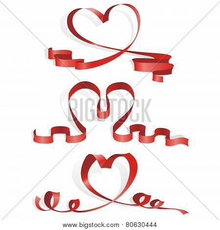 Heart from ribbon