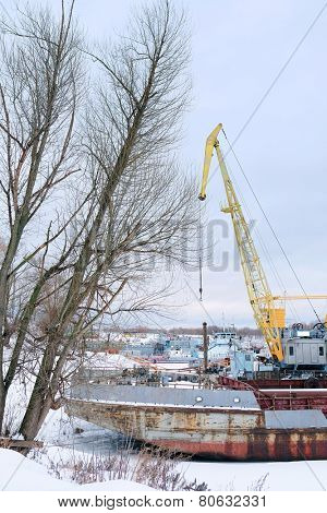 image of port cranes