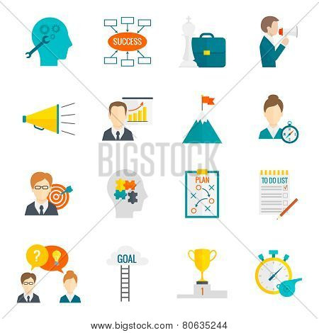 Coaching Business Icon Flat