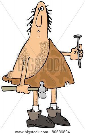 Caveman carpenter