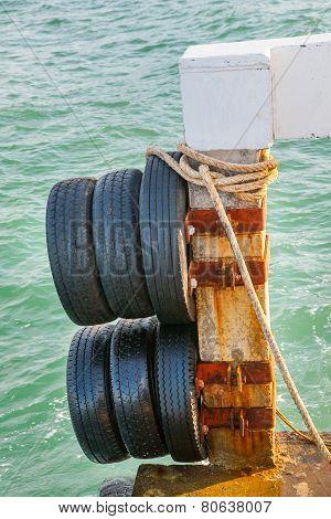 Boat Bumper Old Tire.