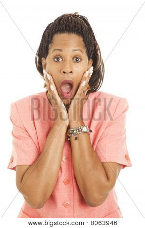 Beautiful Businesswoman - Shocked