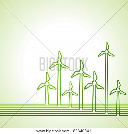Abstract background with wind-mill stock vector
