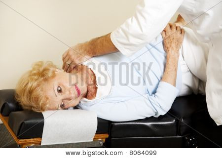 Patient Gets Chiropractic Adjustment