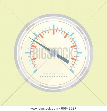Manometer Flat Style