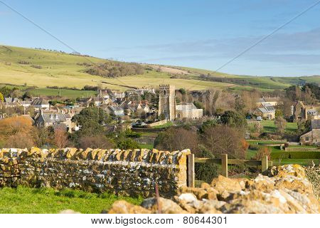 Dorset village Abbotsbury England UK known for its swannery