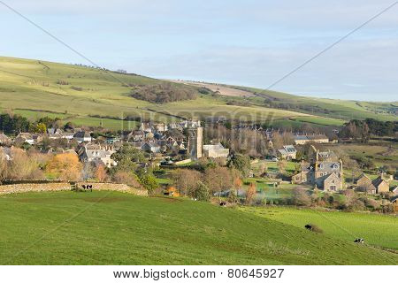 Abbotsbury village Dorset England UK known for its swannery, subtropical gardens and historic stone