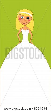Vertical Wedding Invitation