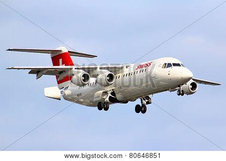 Swiss International Air Lines Bae Systems Avro 146-rj100
