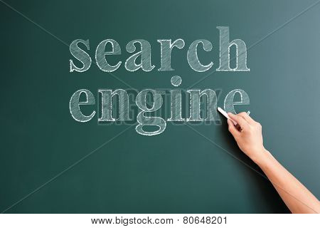 serch engine written on blackboard