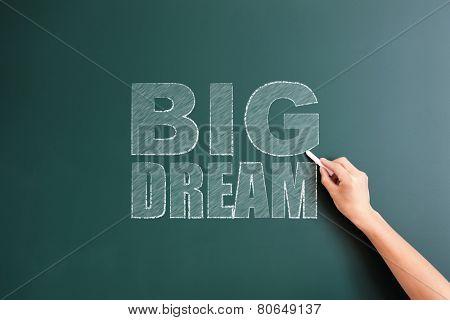 big dram written on blackboard