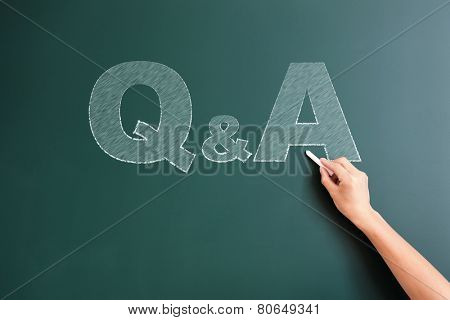 Q&A written on blackboard