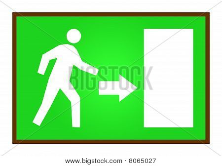 Person Running For Exit
