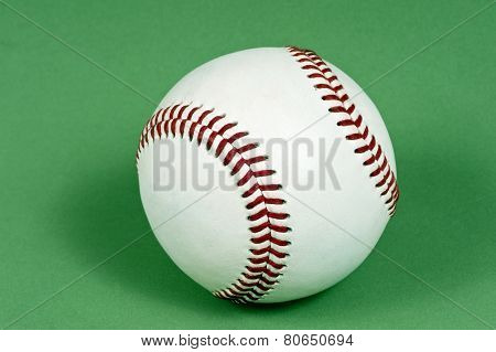 Baseball On Green Background