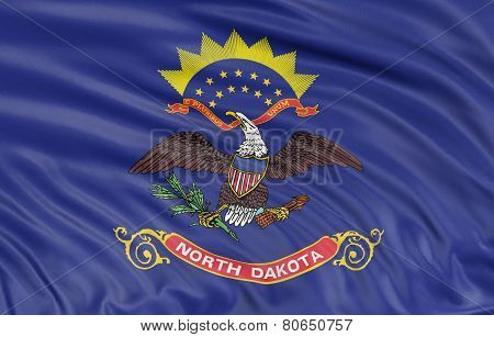 3D North Dakota Flag