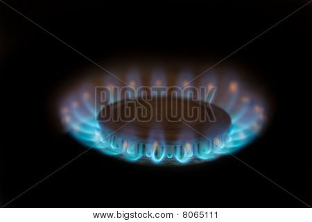 Blue Flames Of Propane Burner