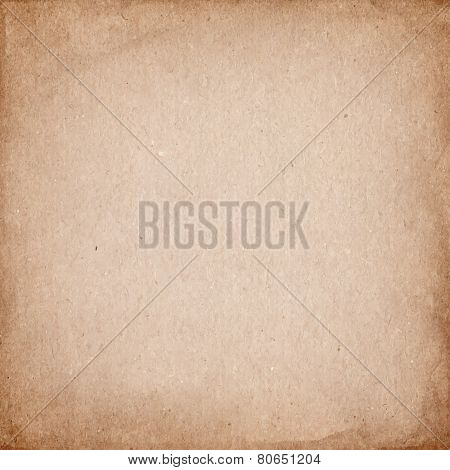 Realistic brown cardboard stained vector texture