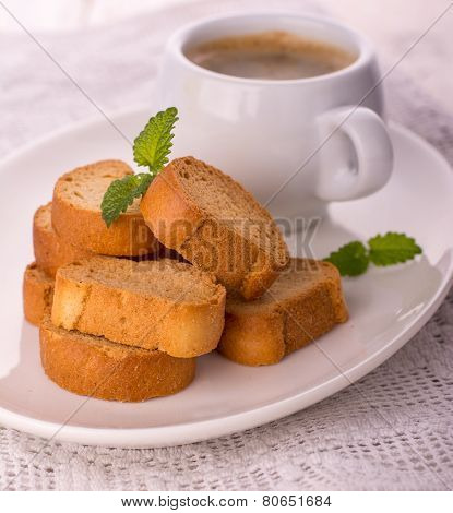 cup of coffee biscotti