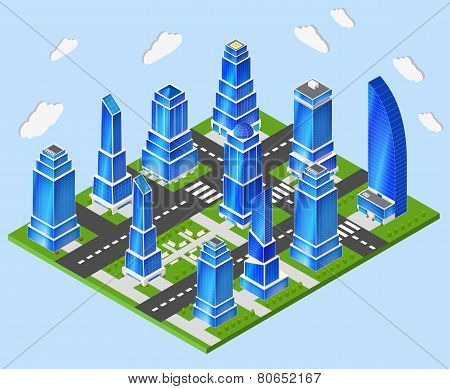 Office city center industry planning