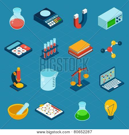 Isometric Science Icons