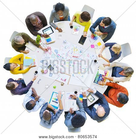 Diversity Business People Social Communication Meeting Brainstorming Concept
